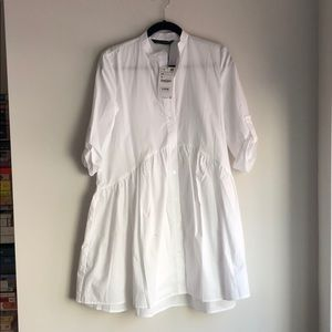 Zara White Shirtdress - New With Tags